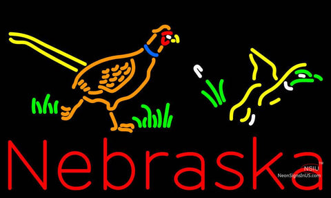 Custom Nebraska Pheasant Steve Neon Sign