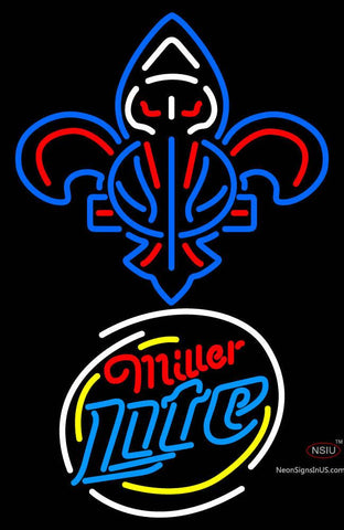 Custom New Orleans Pelicans With Miller Lite Logo Neon Sign