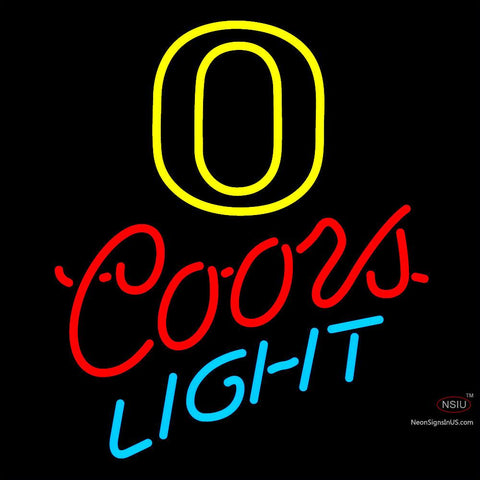 Custom O Coors Light Neon Sign