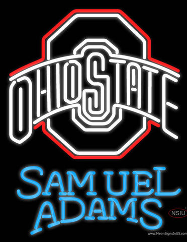 Ohio State Samuel Adams Real Neon Glass Tube Neon Sign