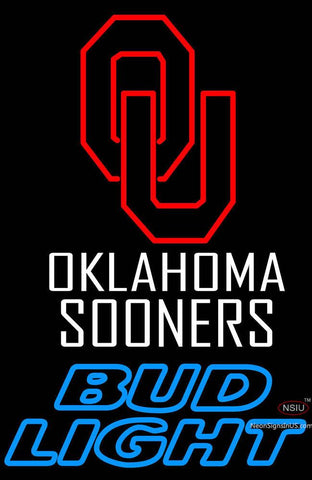 Oklahoma Sooners Bud Light Neon Sign