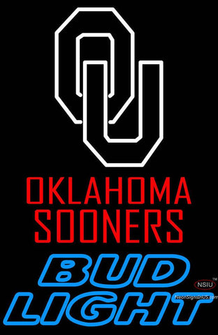 Oklahoma Sooners Logo Bud Light Neon Sign