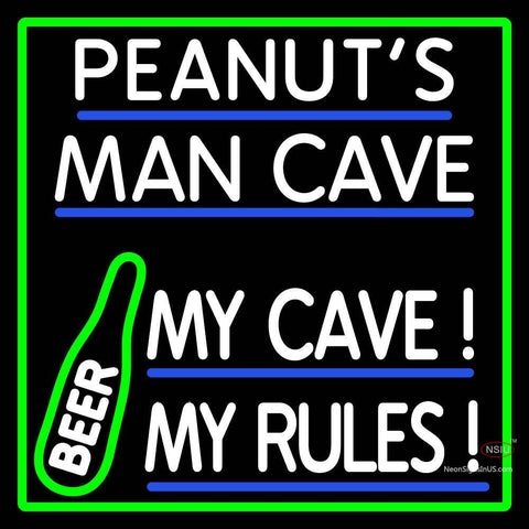 Custom Peanuts Man Cave Beer Neon Sign