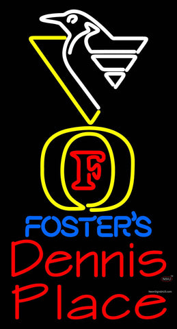 Custom Penguin Fosters Dennis Place Neon Sign