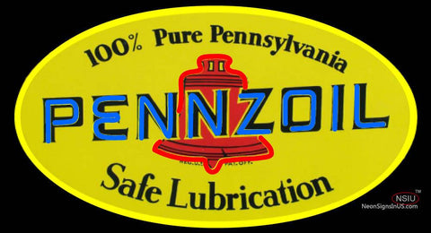 Pennzoil Safe Lubrication Neon Sign