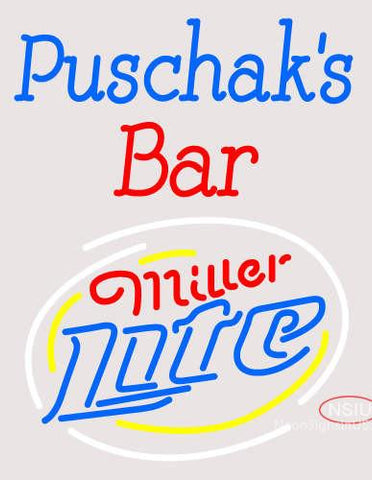 Custom Puschak Bar Neon Sign