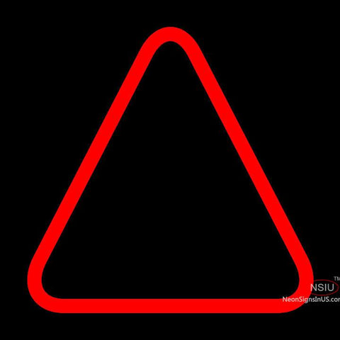 Custom Red Triangle Logo Neon Sign