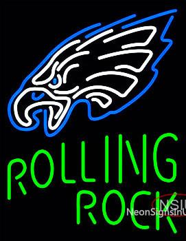 Custom Rolling Rock Philadelphia Eagles Neon Sign
