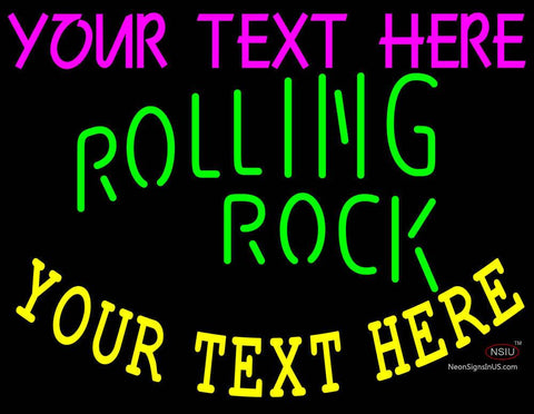 Custom Rolling Rock Single Line Neon Beer Sign