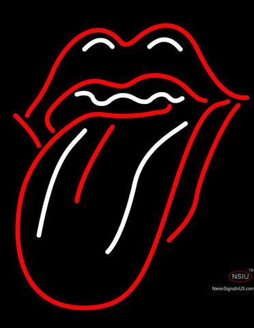 Custom Rolling Stones Lips And Tongue Logo Neon Sign