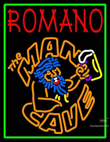 Custom Romano Man Cave Neon Sign