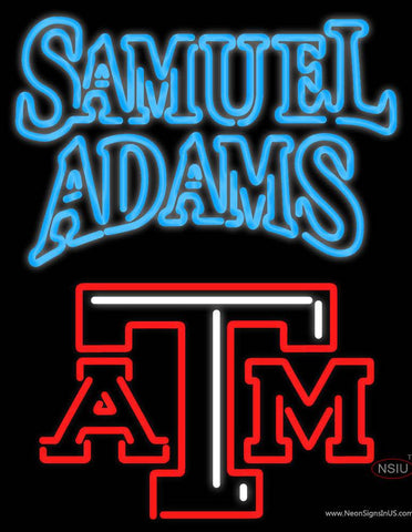 Samuel Adams A And M Logo Real Neon Glass Tube Neon Sign
