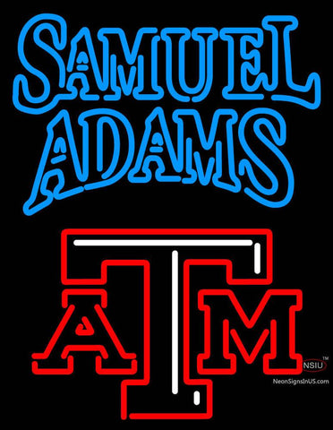 Samuel Adams A And M Logo Neon Sign