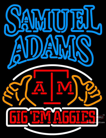 Samuel Adams A And M Logo University Neon Sign