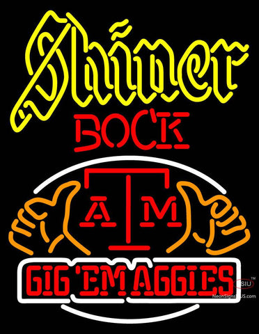 Custom Shiner Bock A And M Logo Neon Sign