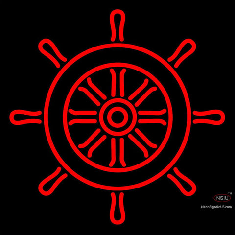 Custom Ships Wheel Logo Neon Sign