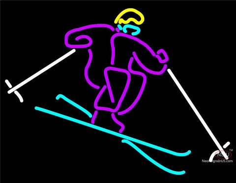 Logo of Skier Neon Sign