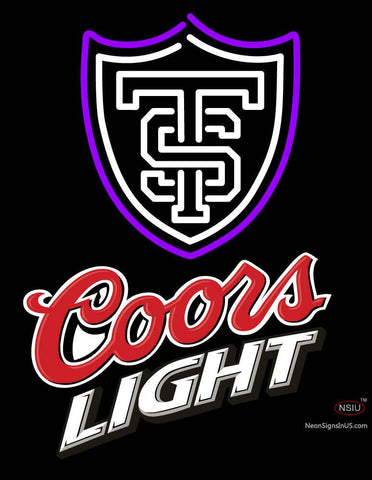 Custom St Thomas Tommies And Coors Light Logo Neon Sign