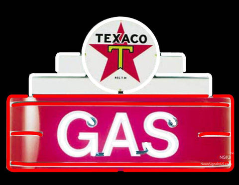 Texaco Logo Gas Neon Sign
