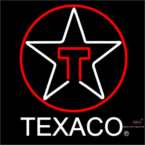 Texaco Logo Neon Sign
