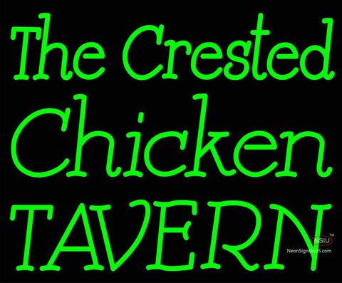 Custom The Crested Chicken Tavern Neon Sign