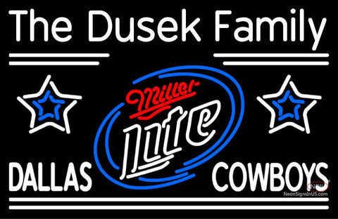 Custom The Dusek Family Dallas Cowboys Neon Sign