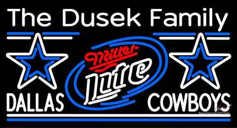 Custom The Dusek Family Dallas Cowboys Neon Sign 7