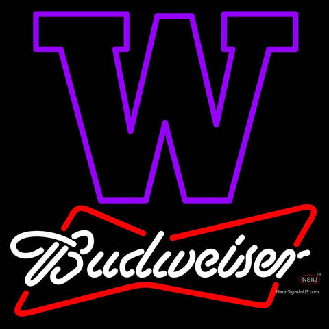 Custom University Of Washington Budweiser Neon Sign