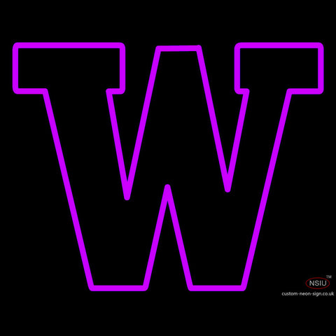 University Washington Logo Neon Sign