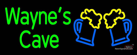 Custom Waynes Cave With Beer Mug Neon Sign