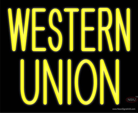 Custom Western Union Real Neon Glass Tube Neon Sign