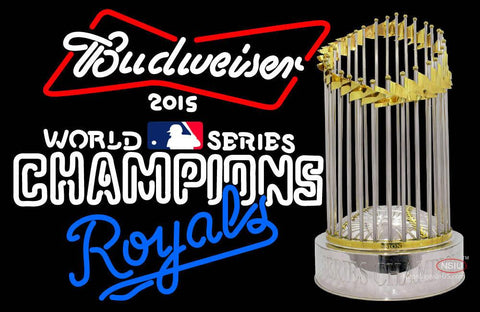 Custom World Series Champions Royals Logo Budweiser Neon Sign