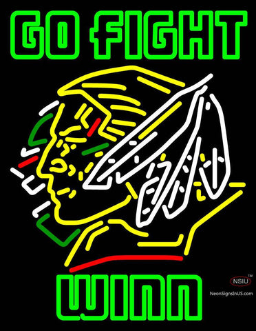 Customgo Fight Winn North Dakota Fighting Sioux Neon Sign