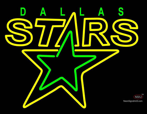 Dallas Stars Primary   Logo  NHL Neon Sign