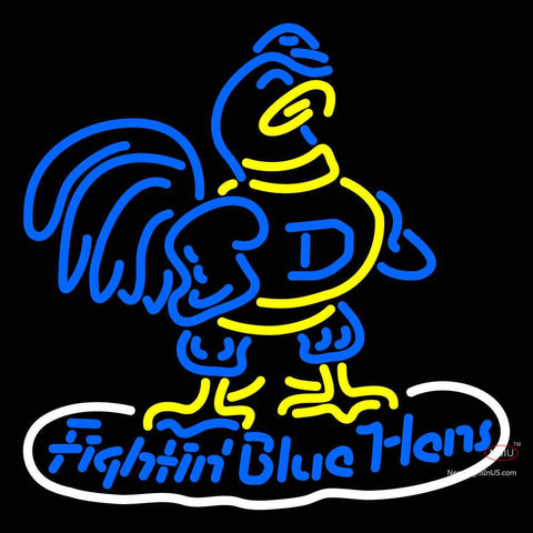 Delaware Blue Hens Primary   Logo NCAA Neon Sign