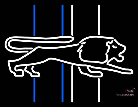 Detroit Lions Primary   Logo NFL Neon Sign