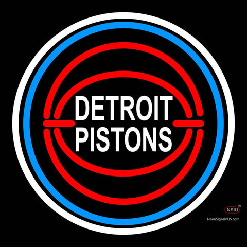 Detroit Pistons NBA Logo Neon Sign  x