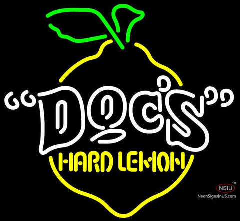 Docs Hard Lemon Neon Sign