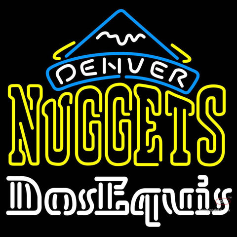 Dos Equis Denver Nuggets NBA Neon Beer Sign