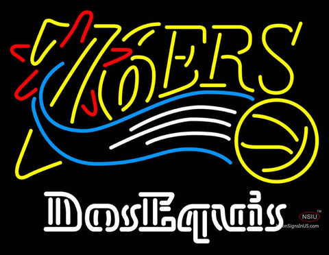 Dos Equis Philadelphia 7ers NBA Neon Beer Sign