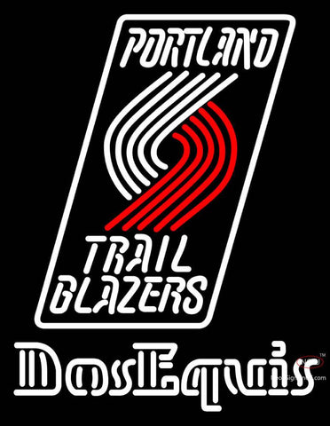 Dos Equis Portland Trail Blazers NBA Neon Beer Sign
