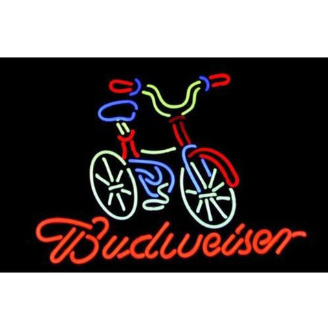 Font B Bicycle B Font Bike Fat Tire Budweiser Bud Star Beer Bar Neon Light