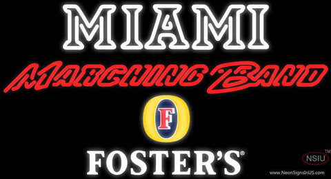 Fosters Miami UNIVERSITY Band Board Real Neon Glass Tube Neon Sign