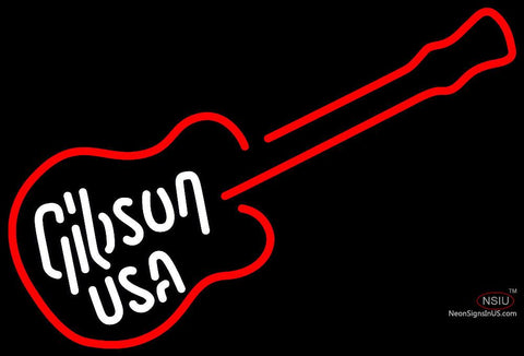 Gibson USA Electric Guitar Neon Sign
