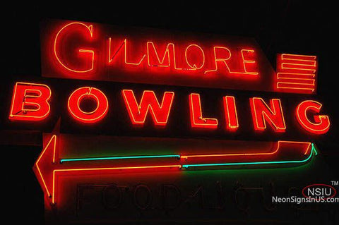 Gilmore Bowling Gasoline Neon Sign