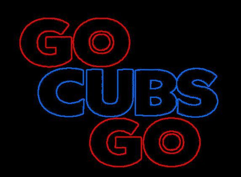 Go Cubs Go Real Neon Glass Tube Neon Sign