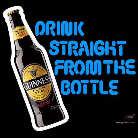 Guinness Bottole Neon Beer Sign x