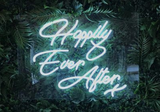 Happily Ever After  Handmade Art Neon Sign