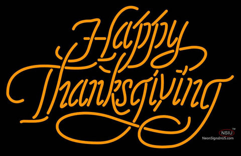 Happy Thanks Giving Neon Sign