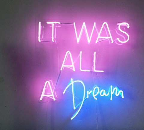 New It was all a dream Handmade Art Neon Signs